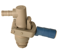 Closed 4 Pin Poly Coupler for Stainless RSV or Poly RPV Valves