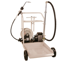 Electric Oil Transfer Cart for 55 gallon Drums w/ 25' Hose Reel